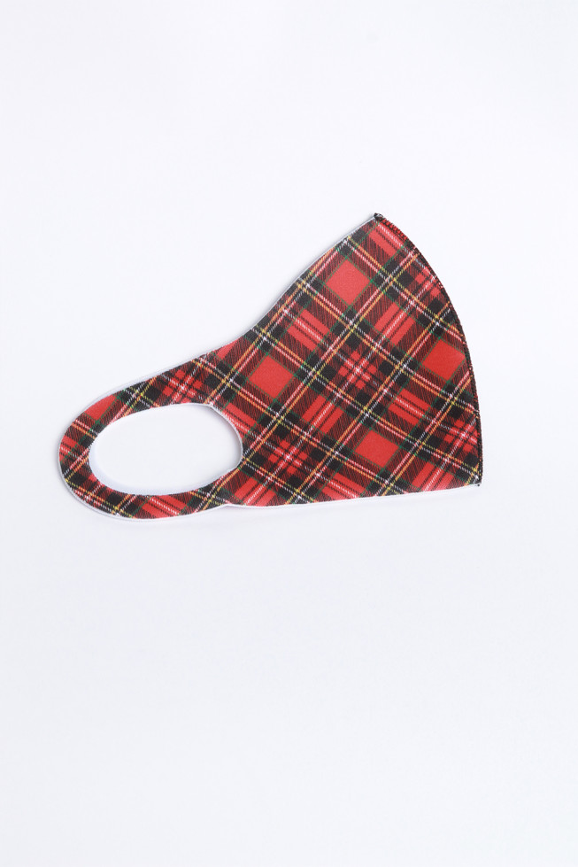 Tartan Check Print Face Mask