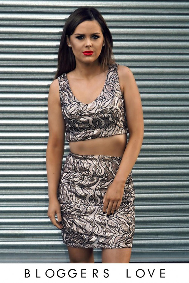 Sequin Top & Skirt Co-Ord
