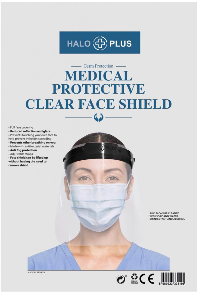 PROTECTIVE CLEAR FACE SHIELD (Pack of 6)