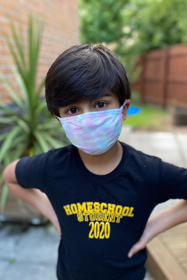Kids Tie Dye Cotton Reusable Face Masks