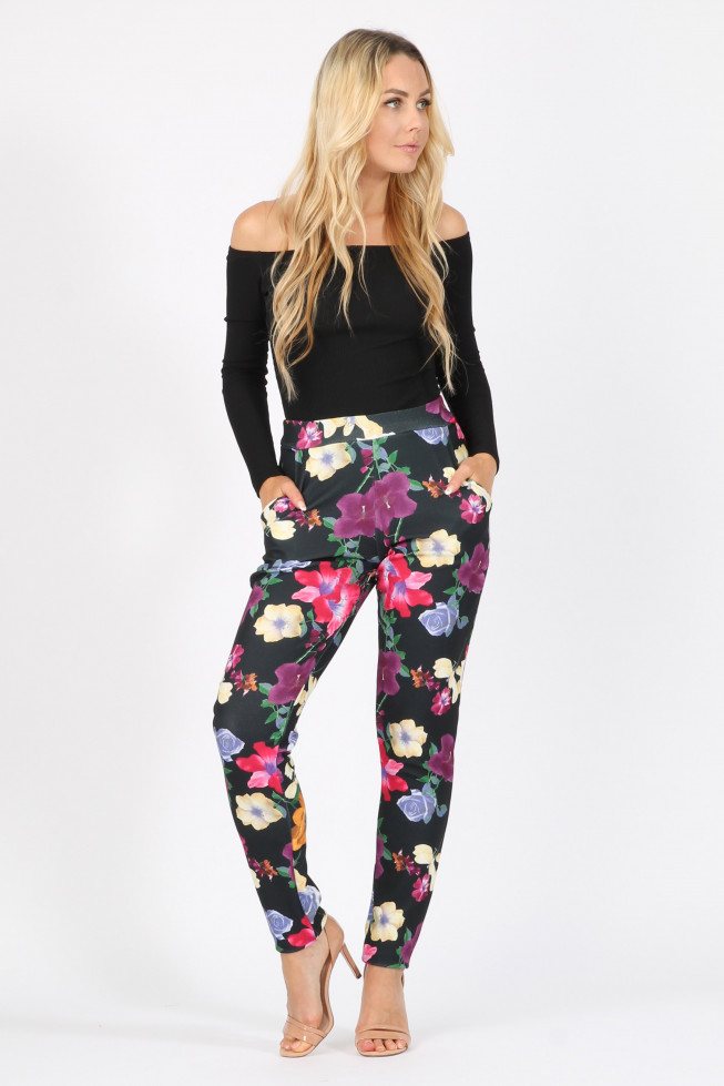 Multi Floral Pocket Trousers