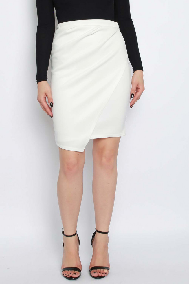 Wrap Over Pencil Skirt
