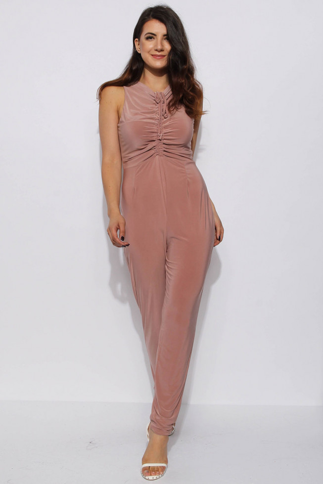 Slinky Ruched Jumpsuit