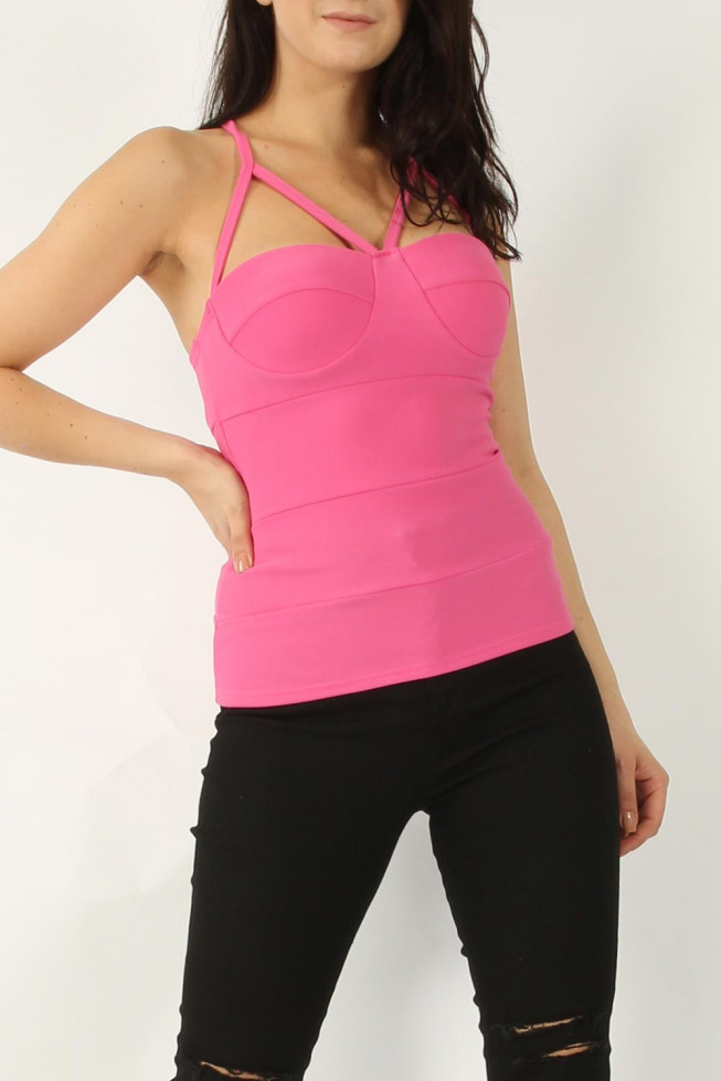 Ribbed Padded Top