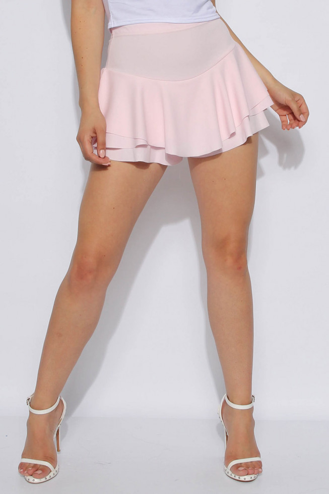 Layered Frill Mini Skort