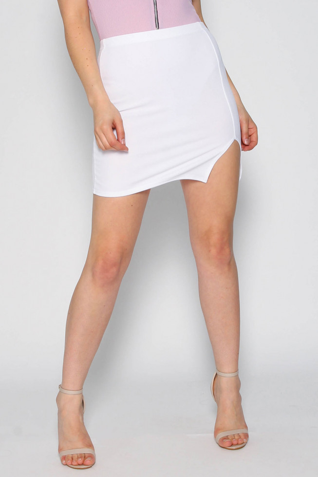 Basic Split Mini Skirt