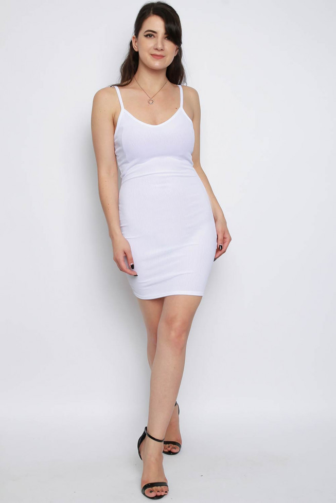 Basic Cami Ribbed Bodycon Dress