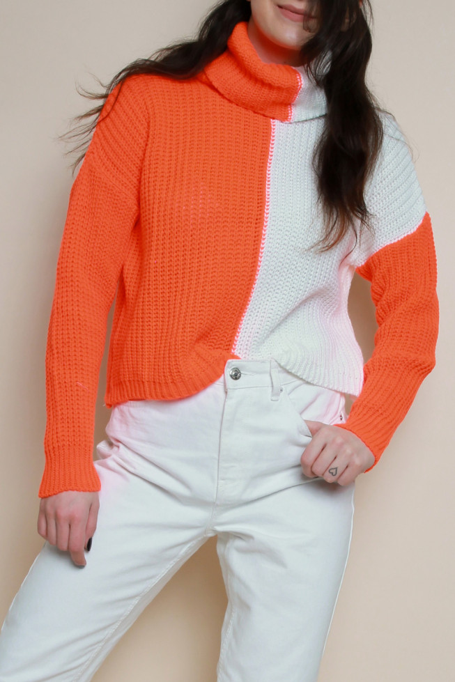 Cowl Neck 50/50 Knitted Jumper