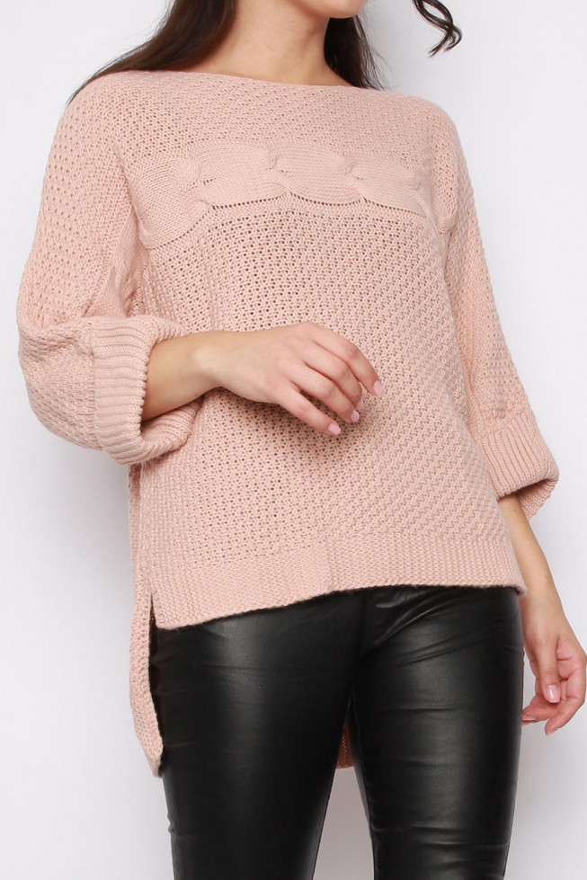 High-low Knitted Jumper