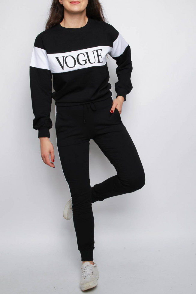 Vogue Stripe Top & Jogger 2pc Lounge Suit