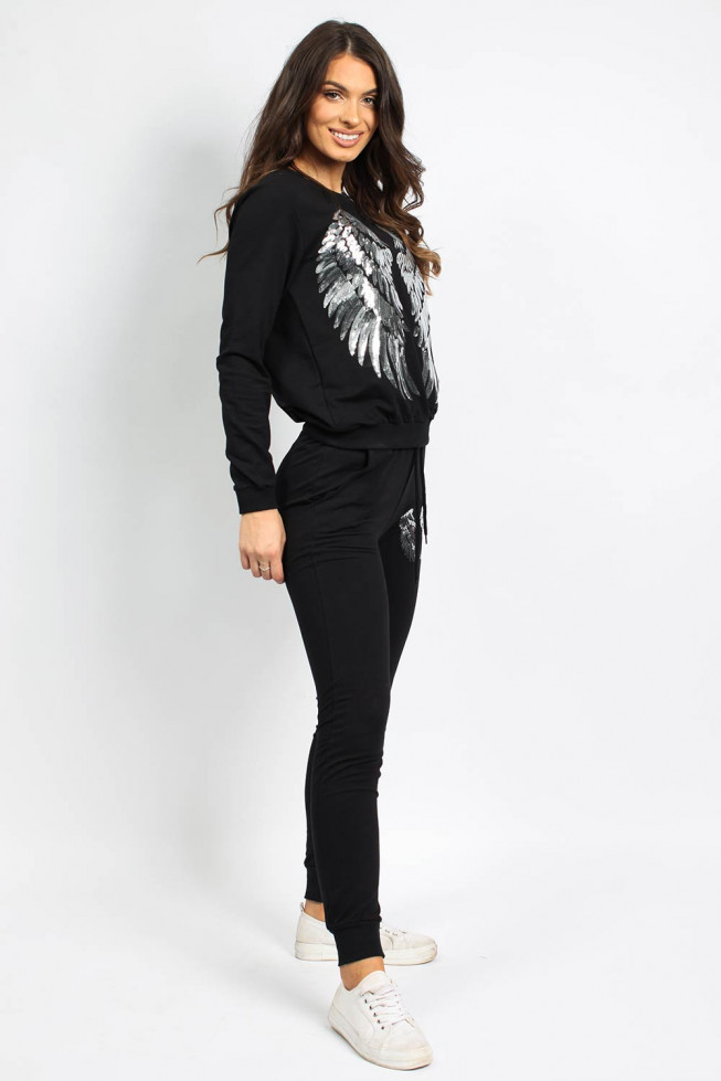 Sequin Wings Sweatshirt & Jogger Co-ord Lounge Set