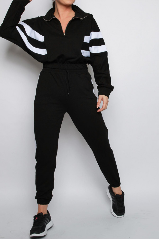Side Stripe Sweatshirt & Jogger Co-ord Lounge Set
