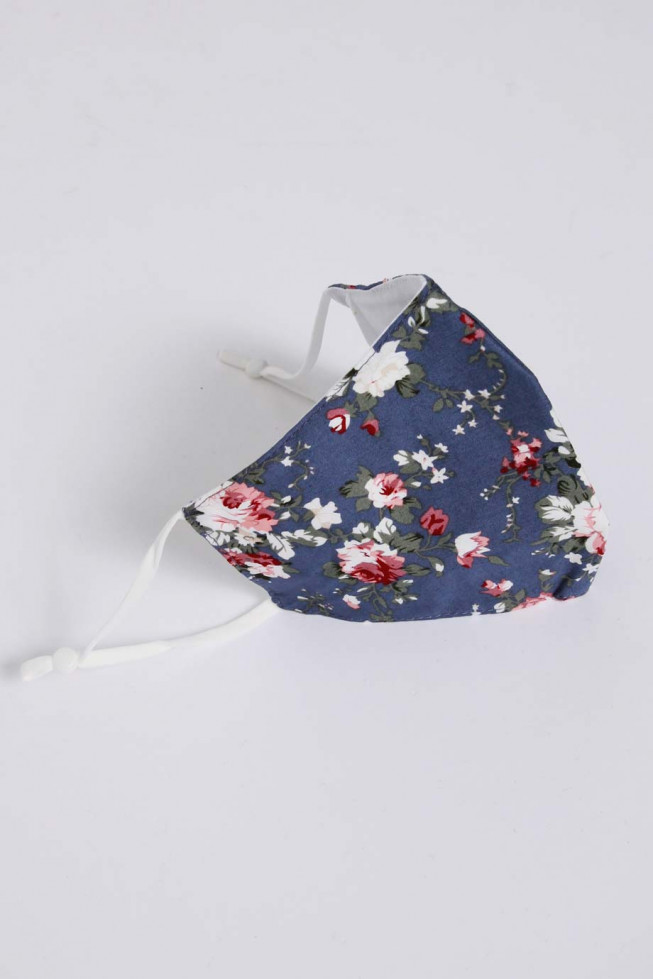 Floral Print Cotton Face Mask With Filter Pocket