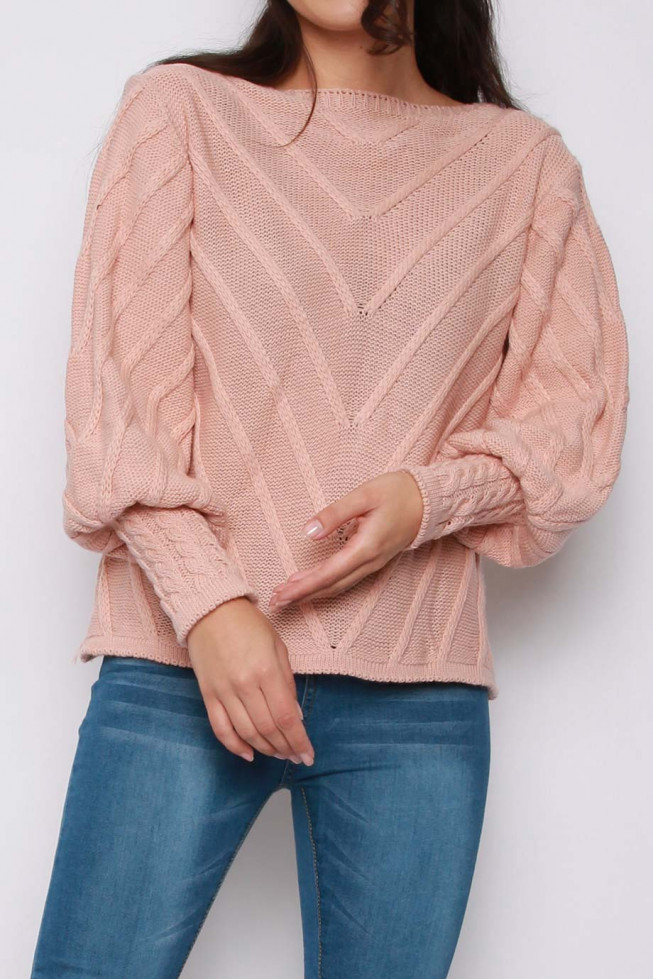 Cable Long Sleeve Knitted Jumper