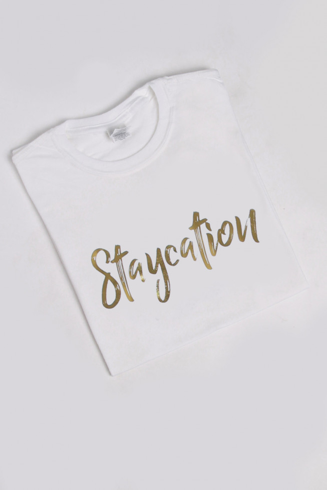 Staycation Foil Oversized T-Shirt