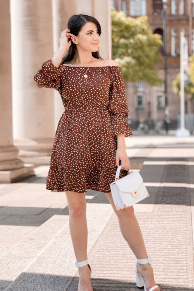 Polka Dot Bardot Skater Dress