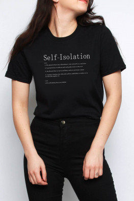 Self-Isolation Slogan Oversized T-shirt