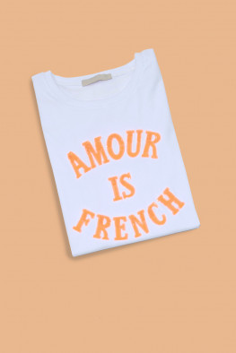 Amour Sequin Slogan T-shirt