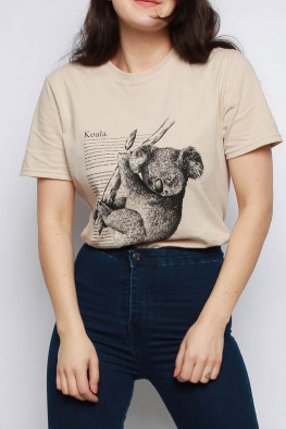 Koala Printed Oversized T-shirt
