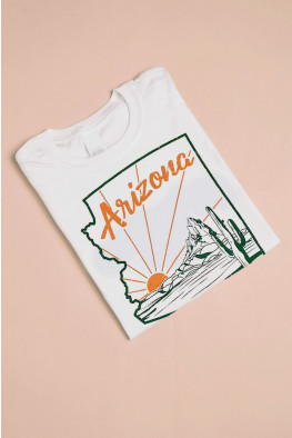 Arizona Graphic Slogan Oversized T-shirt