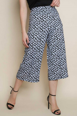 Wide Leg Printed Culotte Pants
