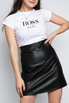 BOSS Babe Slogan T-shirt