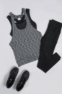 Active Crop Top & Vest Set
