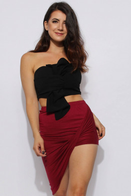 Draped Asymmetric Skirt