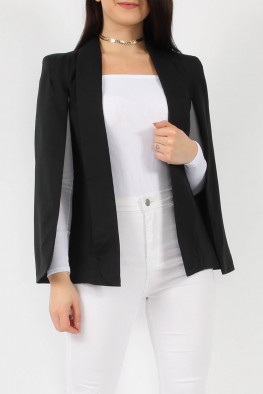 Cape Blazer with Collar
