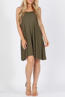 Plain Cami Swing Dress