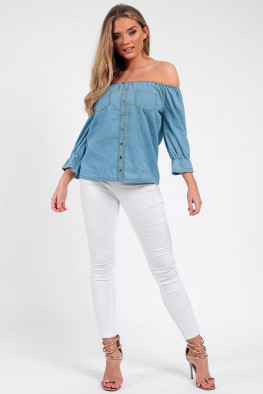 Gypsy Denim Bardot Top