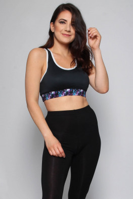 Active Printed Crop Top
