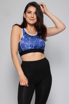 Active Marble Crop Top