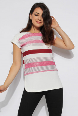 Short Sleeve Stripe Top