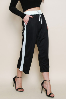 Side Stripe Culotte Trousers