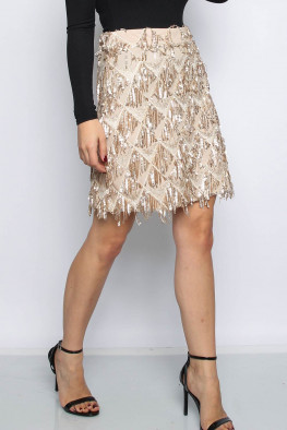 Tassel Sequin Skirt