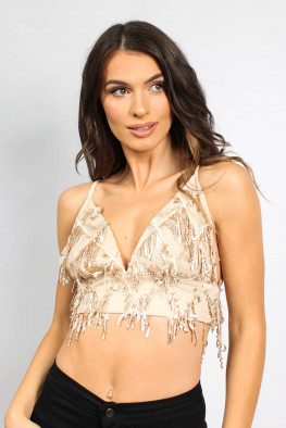 Tassel Sequin Bralet Top