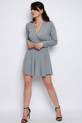 Basic Wrap Skater Dress