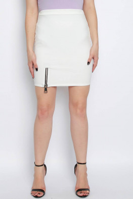 Basic Zip Mini Skirt