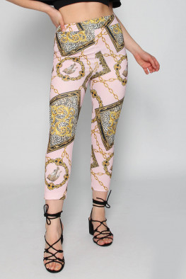 Scarf Print Trousers