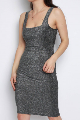 Cami Metallic Knitted Dress