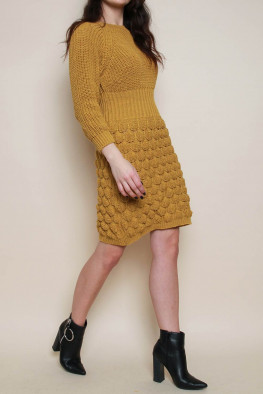 Bobble Knitted Jumper Dress