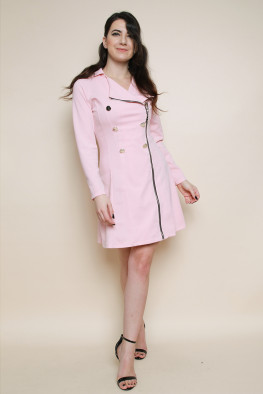 Front Zip Blazer Dress