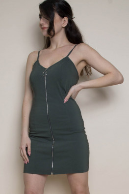Cami Zip Bodycon Utility Dress