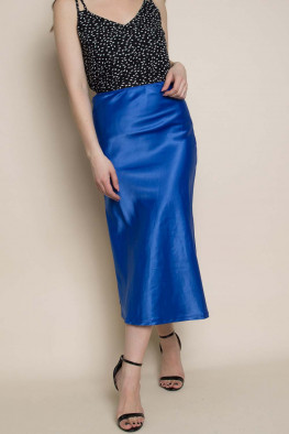 Bias Satin Midi Skirt