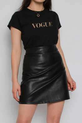 Vogue Foil Printed Slogan T-shirt