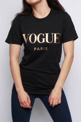 Vogue Slogan Oversized T-shirt