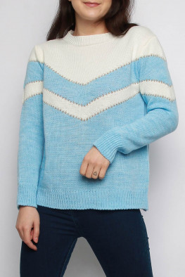 Chevron Colour Block Knitted Jumper