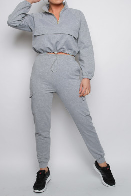 Zip Detail Sweatshirt & Jogger Co-ord Lounge Set