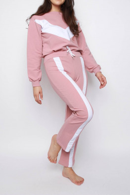 Contrast Stripe Sweatshirt & Jogger Co-ord Lounge Set